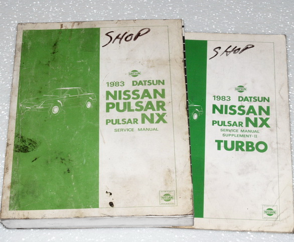 1983 Nissan Pulsar Nx Turbo Coupe Factory Shop Service