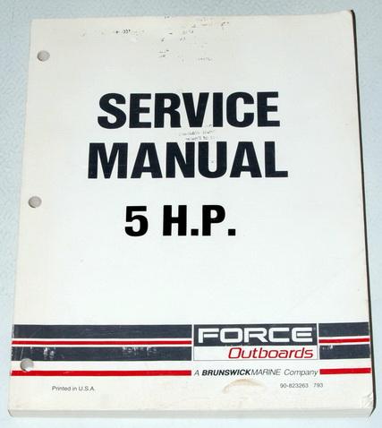 1988 1993 mercury force 5 hp outboard 5hp shop service. Black Bedroom Furniture Sets. Home Design Ideas