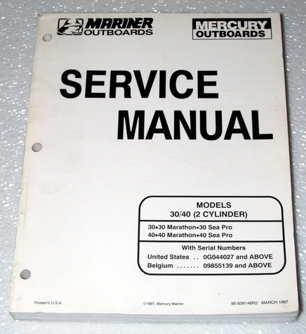 1997 + Mercury Outboard 30 Jet & 40 (2 Cylinder) Factory Service Manual