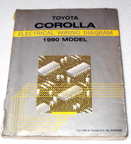 1990 toyota corolla electrical wiring diagrams dealer manual ewd dlx le sr5 gts ebay. Black Bedroom Furniture Sets. Home Design Ideas