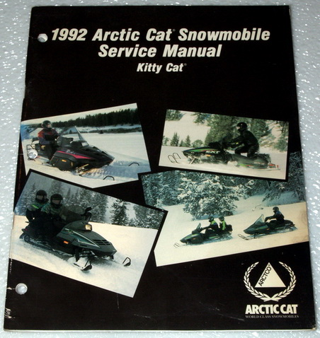 1992 Arctic Cat Kitty Cat Snowmobile Factory Dealer Shop Service Manual