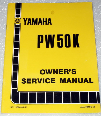 1983 yamaha pw50 pw50k y zinger 50 motorcycle factory. Black Bedroom Furniture Sets. Home Design Ideas