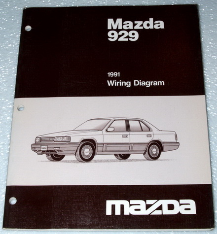 1991 mazda 929 sedan s factory dealer electrical wiring diagrams shop manual ewd ebay