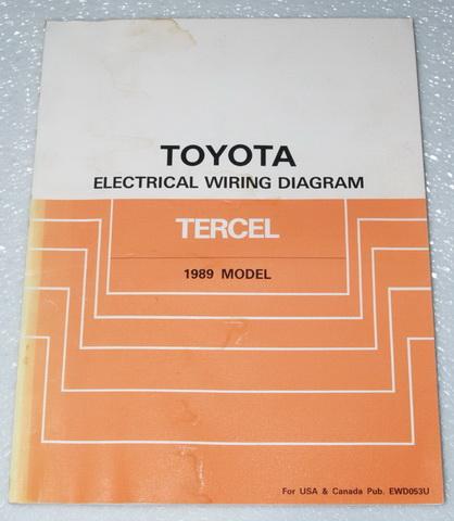 1989 toyota tercel electrical wiring diagrams shop manual. Black Bedroom Furniture Sets. Home Design Ideas