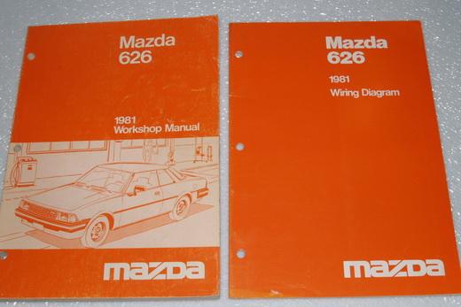 electrical wiring diagram manual  1981 mazda 626 factory dealer shop service  manual