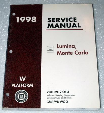 1998 chevy monte carlo ls z34 lumina ltzshop service. Black Bedroom Furniture Sets. Home Design Ideas