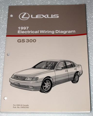 1997 lexus gs300 sedan factory dealer electrical wiring. Black Bedroom Furniture Sets. Home Design Ideas