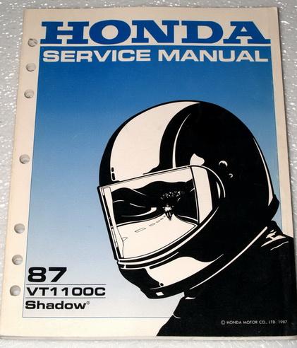 1987 HONDA SHADOW 1100 VT1100C Motorcycle Factory Shop