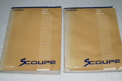 1992 Hyundai Scoupe Factory Shop Manual