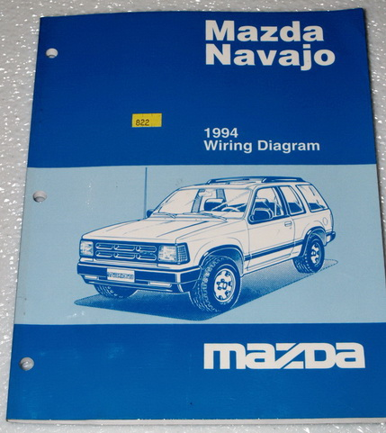 1994 mazda navajo lx dx original factory electrical wiring diagrams shop manual factory repair