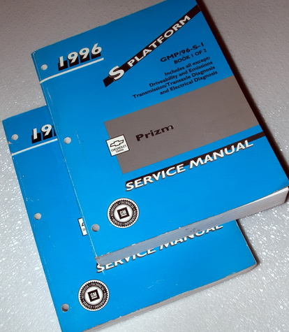 1996 Chevrolet Geo Prizm Factory Service Manuals