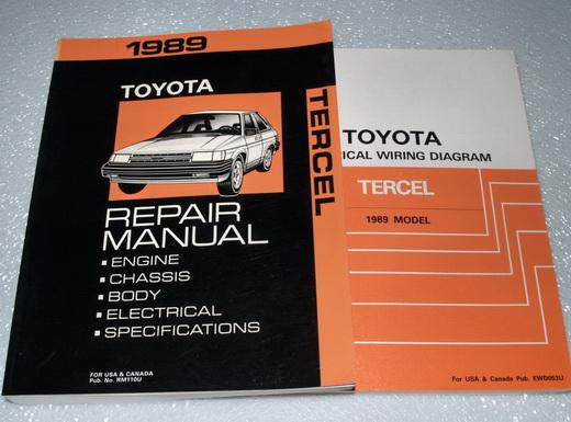 1989 Toyota Tercel Service Repair Manual  U0026 Electrical
