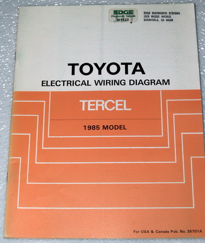 1985 toyota tercel dx dlx sr5 electrical wiring diagrams shop manual al21 al25 ebay