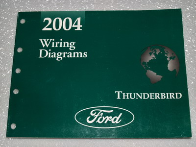 2004 Ford Thunderbird Electrical Wiring Diagrams Shop Manual