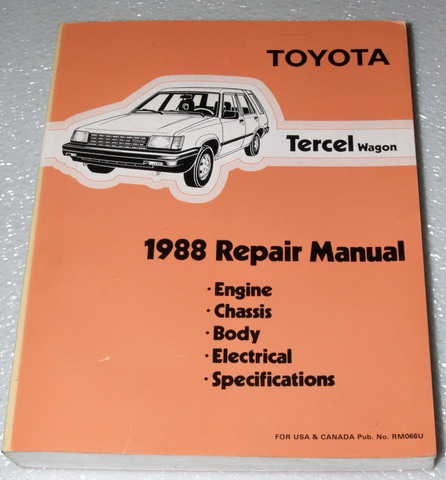 1988 Toyota Tercel Wagon Repair Manual