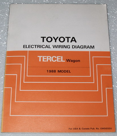 1988 Toyota Tercel Wagon Electrical Wiring Diagrams