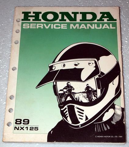 1989 honda nx125 nx 125 motorcycle factory dealer shop