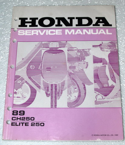 89 honda elite wiring 1989 honda elite 250 scooter ch250 shop service repair ... 1987 honda elite wiring motorcycle #1