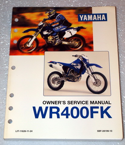 1998 yamaha wr400fk wr400f wr 400 owners service manual. Black Bedroom Furniture Sets. Home Design Ideas