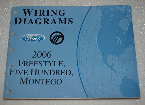 2006 06 mercury montego ford 500 wiring diagrams manual ebay. Black Bedroom Furniture Sets. Home Design Ideas
