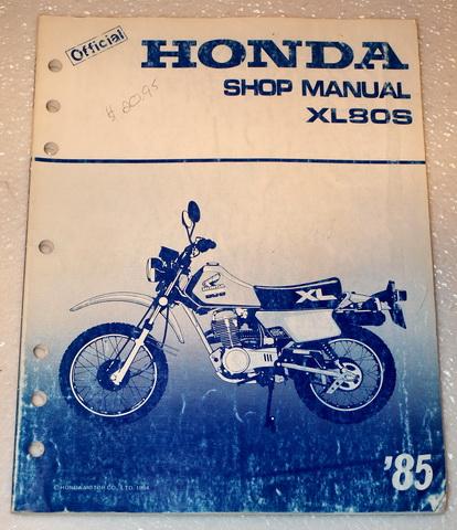 1985 honda xl80s xl80 xl 80 motorcycle factory dealer shop. Black Bedroom Furniture Sets. Home Design Ideas
