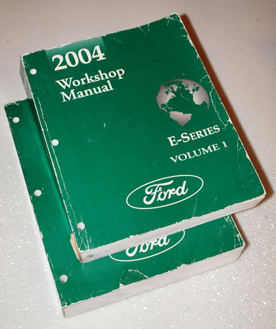 2004 Ford Econoline Van E150 E250 E350 Factory Service Manuals