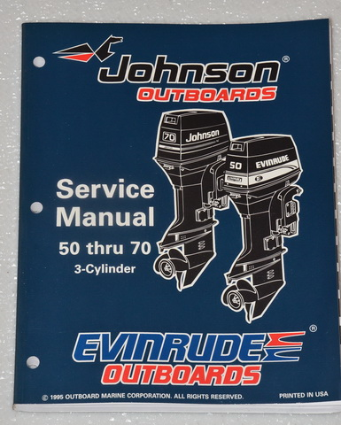 1996 JOHNSON 50 60 65 70 hp 3 CYLINDER OUTBOARD 50hp 60hp ...