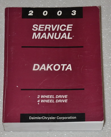 2003 dodge dakota pick up factory service manual. Black Bedroom Furniture Sets. Home Design Ideas