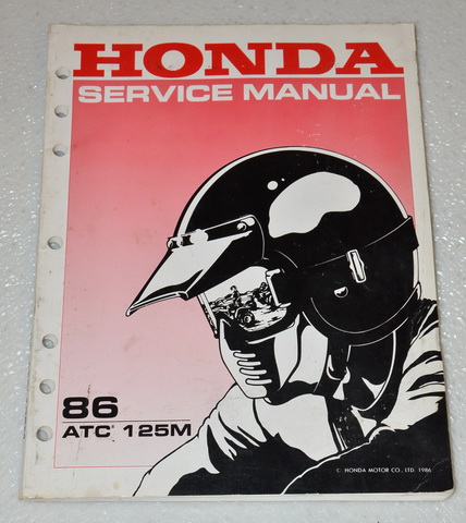 1986 Honda ATC125M 125M ATV Factory Service Manual