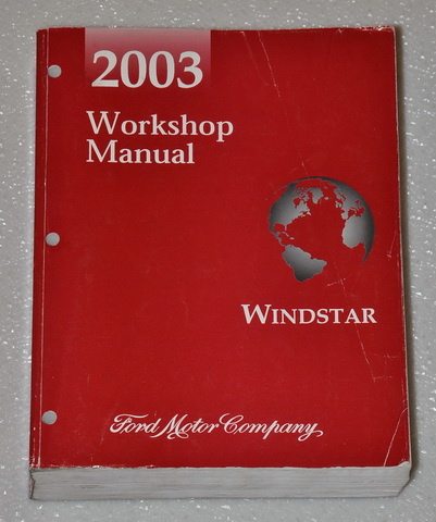 2003 ford windstar factory service manual original shop. Black Bedroom Furniture Sets. Home Design Ideas