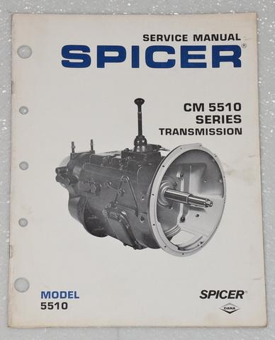 SPICER CM 5510 Series Transmission Service Manual CM-5510-2A Factory Shop  Repair