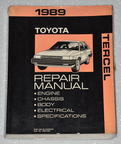 1984 Toyota Van, Wagon Factory Repair Manual
