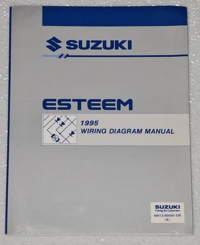 1995    SUZUKI       ESTEEM    Factory Electrical Wiring    Diagrams    Shop Manual GL GLX PLUS 95  Factory