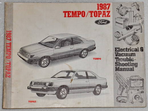 1987 ford tempo mercury topaz electrical vacuum troubleshooting shop manual evtm factory