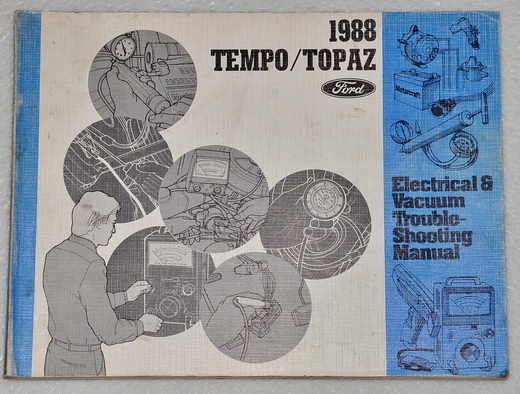 1988 ford tempo mercury topaz electrical vacuum troubleshooting manual evtm factory repair