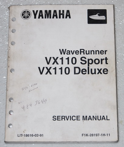 Yamaha vx 110 service manual