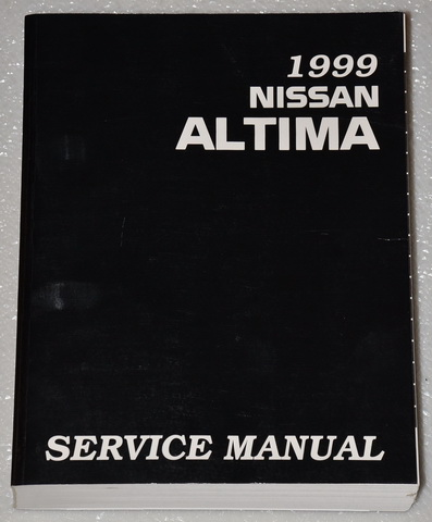 1999 nissan altima factory service manual original shop. Black Bedroom Furniture Sets. Home Design Ideas