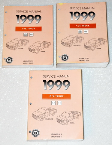 1999 GMC Sierra Chevrolet Silverado Factory Dealer Shop Service Manuals