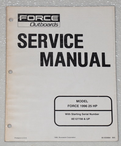 1996, 1997 Force 25hp Outboard Factory Shop Service Manual