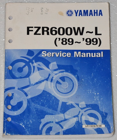 1989 1999 yamaha fzr600 fzr600r shop service manual fzr. Black Bedroom Furniture Sets. Home Design Ideas