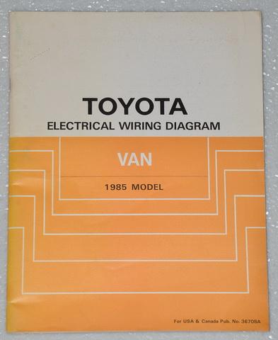1985 toyota van mini van wagon electrical wiring diagrams shop manual dx le 85 ebay. Black Bedroom Furniture Sets. Home Design Ideas