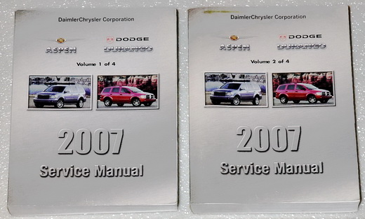 2007 Dodge Durango Sxt Slt Chrysler Aspen Limited Shop Service Repair Manual Set