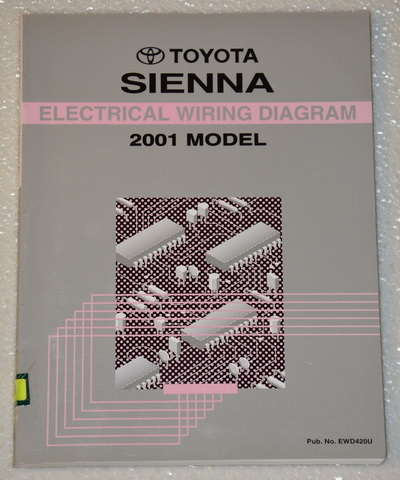 2001 toyota sienna electrical wiring diagrams shop manual. Black Bedroom Furniture Sets. Home Design Ideas