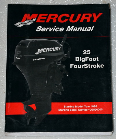 1998 2001 mercury outboard 25 hp bigfoot 4 four stroke. Black Bedroom Furniture Sets. Home Design Ideas
