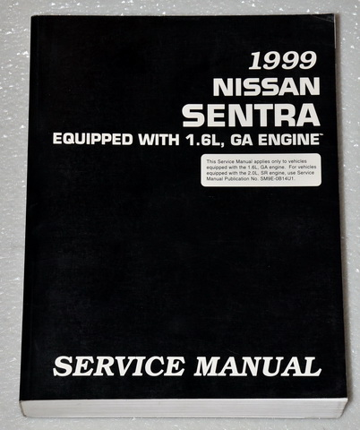 1999 Nissan Sentra Factory Dealer Shop Service Manual