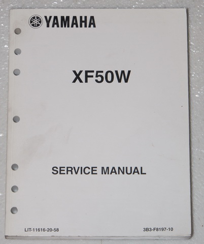 2007 yamaha c3 scooter service manual xf50 xf50w factory. Black Bedroom Furniture Sets. Home Design Ideas