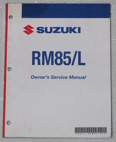2008 suzuki rm85 rm85l motorcycle owners service manual rm85k8 rm 85 shop repair factory Suzuki RM 85 2009 Suzuki RM 125