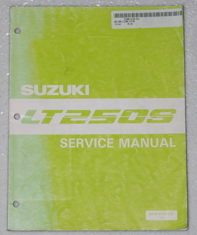 1989 Suzuki LT250S Factory Service Manual