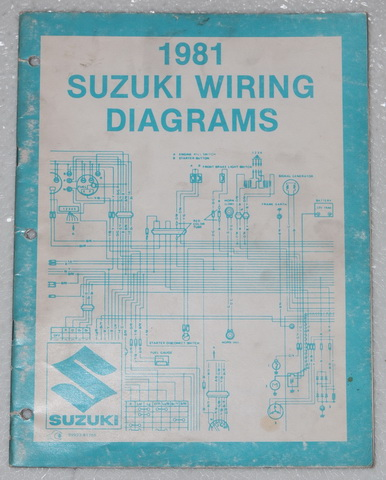motorcycle repair wiring diagrams 1981 suzuki    motorcycle    electrical    wiring       diagrams    manual  1981 suzuki    motorcycle    electrical    wiring       diagrams    manual