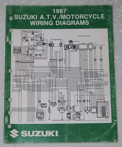 speedo 1987 camaro wire diagram 1987 suzuki motorcycle and atv electrical wiring diagrams ... 1987 suzuki wire diagram
